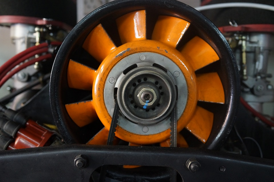 Image of a Porsche Air Engine Cooling System